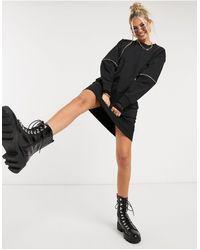 Love Moschino Zip Detail Jersey Jumper Dress - Black