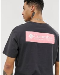 Columbia North Cascades Back Print T-shirt In Black/pink