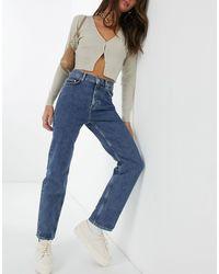 & Other Stories – Favourite – Kurz geschnittene, schmale Straight Jeans aus Bio-Baumwolle - Blau