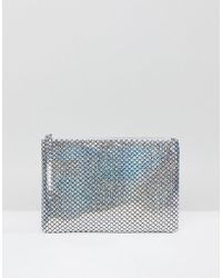 South Beach - Silver Holographic Mermaid Zip Top Pouch - Lyst