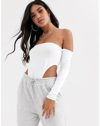 ASOS Off Shoulder Extreme Body In White