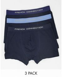 French Connection Lot de 3 boxers - multicolore - Bleu