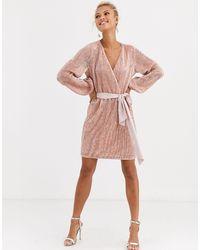 Forever New Розоватое Платье Мини С Отделкой Пайетками -розовый