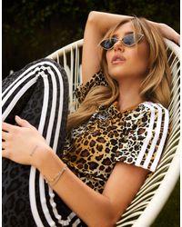adidas Originals Короткая Футболка Leopard Luxe-коричневый Цвет