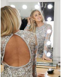 A Star Is Born Embellished Mini Dress - Metallic