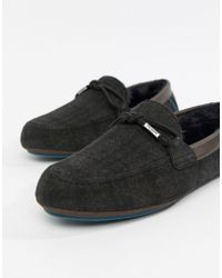 Ted Baker - Pytre Moccasin Slippers In Check - Lyst