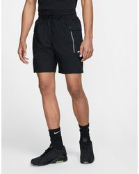 Nike Черные Легкие Шорты Карго В Стиле Милитари -черный