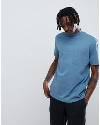 ASOS DESIGN - Relaxed T-shirt With Chunky Neck And Oversized Pocket - Lyst