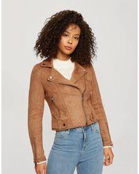 Miss Selfridge Светло-коричневая Короткая Куртка Из Искусственной Замши -коричневый Цвет