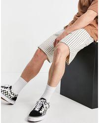 Carhartt WIP Trade Single - Short à rayures - hickory - Blanc