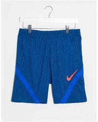 Nike Football Синие Шорты С Принтом -синий