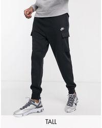 Nike Jogger d'hiver en polaire à chevilles resserrées avec empiècements en nylon - Noir
