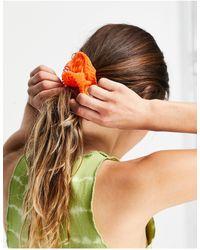 TOPSHOP Оранжевая Резинка Для Волос Из Фактурной Органзы -оранжевый Цвет