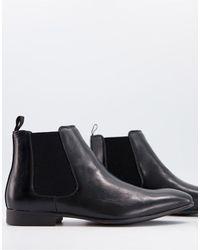 Truffle Collection Черные Ботинки Челси В Строгом Стиле -черный Цвет