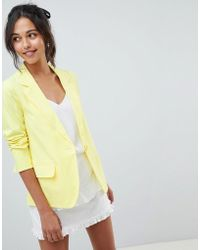 Oasis - Tailored Suit Jacket In Yellow - Lyst