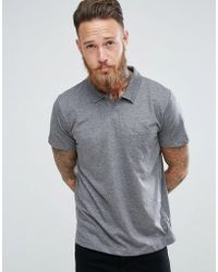 Mango - Man Jersey Polo With Revere Collar In Gray - Lyst