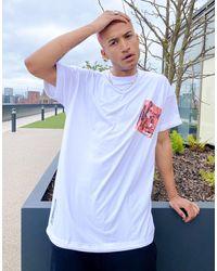 Liquor N Poker T-shirt oversize à imprimé illustration - Blanc