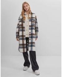 Bershka - Удлиненная Клетчатая Куртка-рубашка -многоцветный - Lyst
