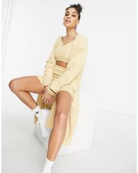 """adidas Originals Бежевый Oversized-кардиган Из Пушистого Трикотажа """"relaxed Risqué"""" - Естественный"""