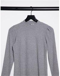 Pimkie Brushed High Neck Top - Grey