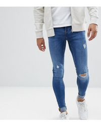 Blend - Tall Flurry Mid Wash Extreme Skinny Jeans - Lyst