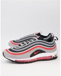 Nike Красно-серые Кроссовки Air Max 97 Se-красный