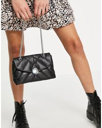 Pimkie Quilted Bag With Chain - Black
