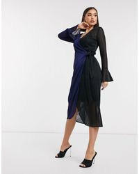 Never Fully Dressed Prince - Jurk Met Contrasterende Overslag - Blauw