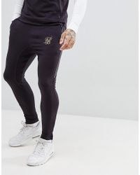 SIKSILK - Joggers In Navy With Logo - Lyst