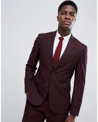 Mango - Man Suit Jacket In Burgundy - Lyst