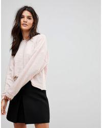 Vila - Textured Sweatshirt - Lyst