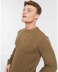 Jack & Jones Core - Maglione girocollo testurizzato beige - Multicolore