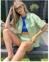 TOPSHOP Co-ord Casual Shirt - Green