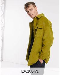 Reclaimed (vintage) Плотная Рубашка Навыпуск В Цвете Хаки Inspired-зеленый