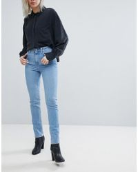Weekday - Way High Waist Slim Leg Jean In Washed Blue - Lyst