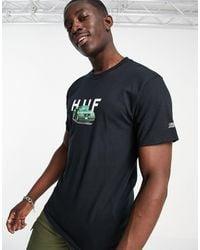 Huf X Street Fighter II - Bonus Stage - T-shirt - Noir