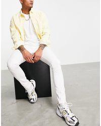 Criminal Damage Super Skinny Jeans - White