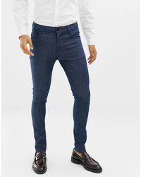 ASOS Jean habillé coupe super skinny - brut - Bleu