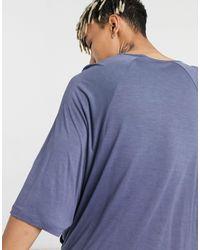 ASOS T-shirt lunga oversize - Blu