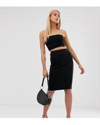 ASOS Asos Design Tall High Waisted Pencil Skirt - Black
