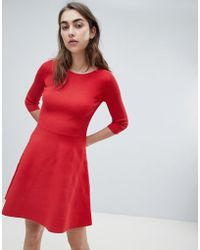 MAX&Co. - Max&co Knitted Skater Dress - Lyst