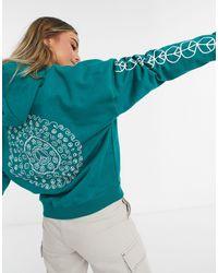 Quiksilver Sudadera con capucha azul verdosa - Verde