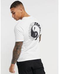 Santa Cruz Scream - T-shirt bianca con stampa di Yin-Yang sul petto - Bianco