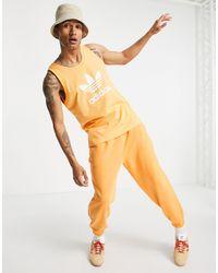 adidas Originals Оранжевая Майка С Большим Логотипом-трилистником -оранжевый Цвет