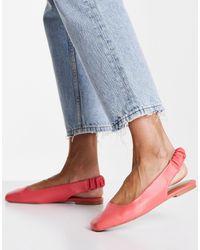 ASOS Lend Square Toe Slingback Ballet Flats - Pink