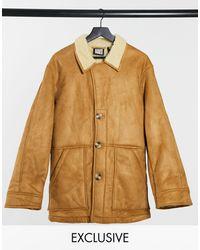 Reclaimed (vintage) Коричневая Куртка Из Искусственной Овчины Inspired-коричневый