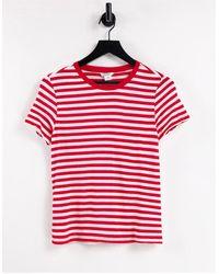 Monki Simba Organic Cotton Stripe T-shirt - White