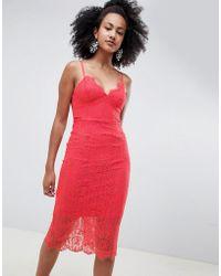 New Look - Lace Midi Dress - Lyst