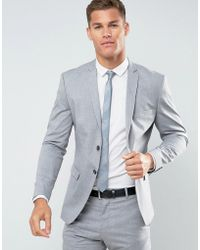 SELECTED - Slim Suit Jacket With Stretch - Lyst
