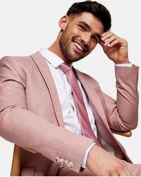 TOPMAN Giacca da abito super skinny monopetto rosa